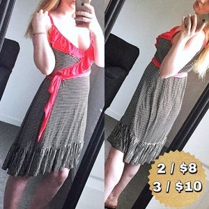 a.n.a. Striped Dress